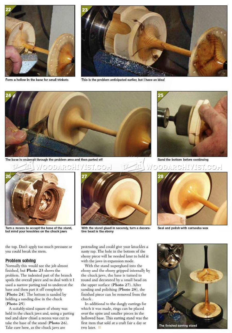 Earing Stand - Woodturning Projects