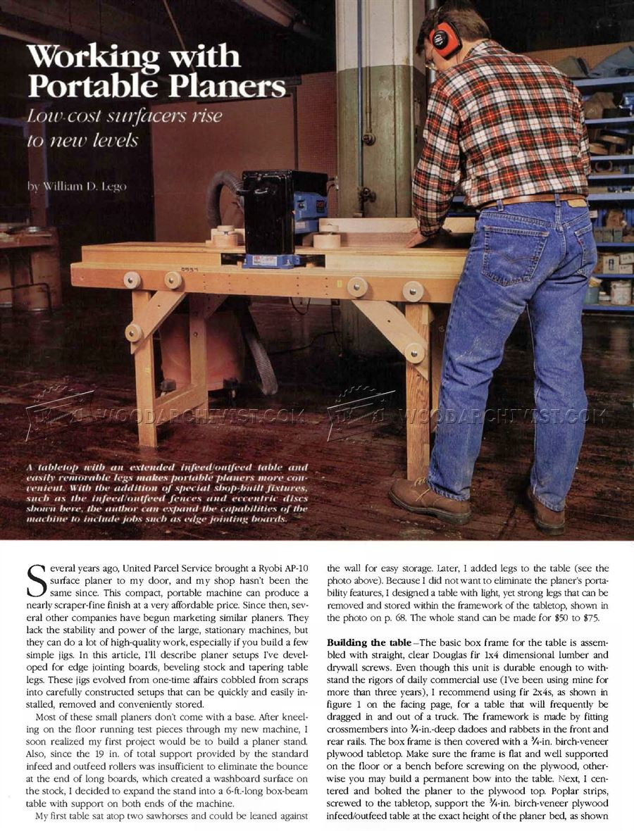#2100 Portable Planer Table Plans