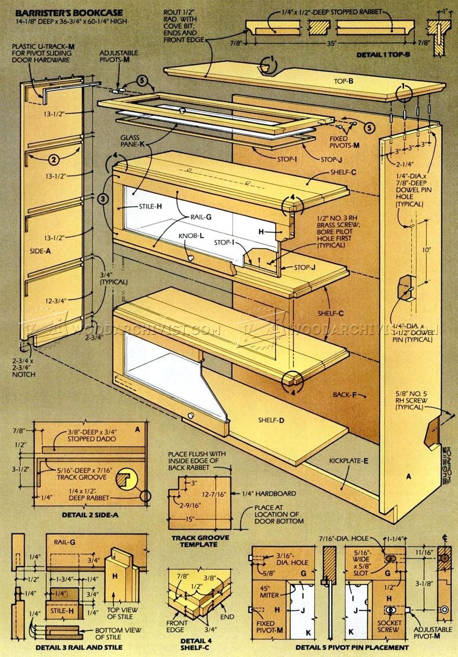 free bookshelves woodworking plans | Caddellbrown