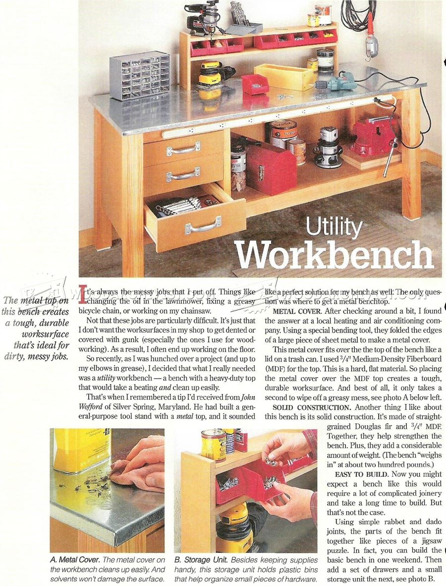 #2111 Garage Workbench Plans