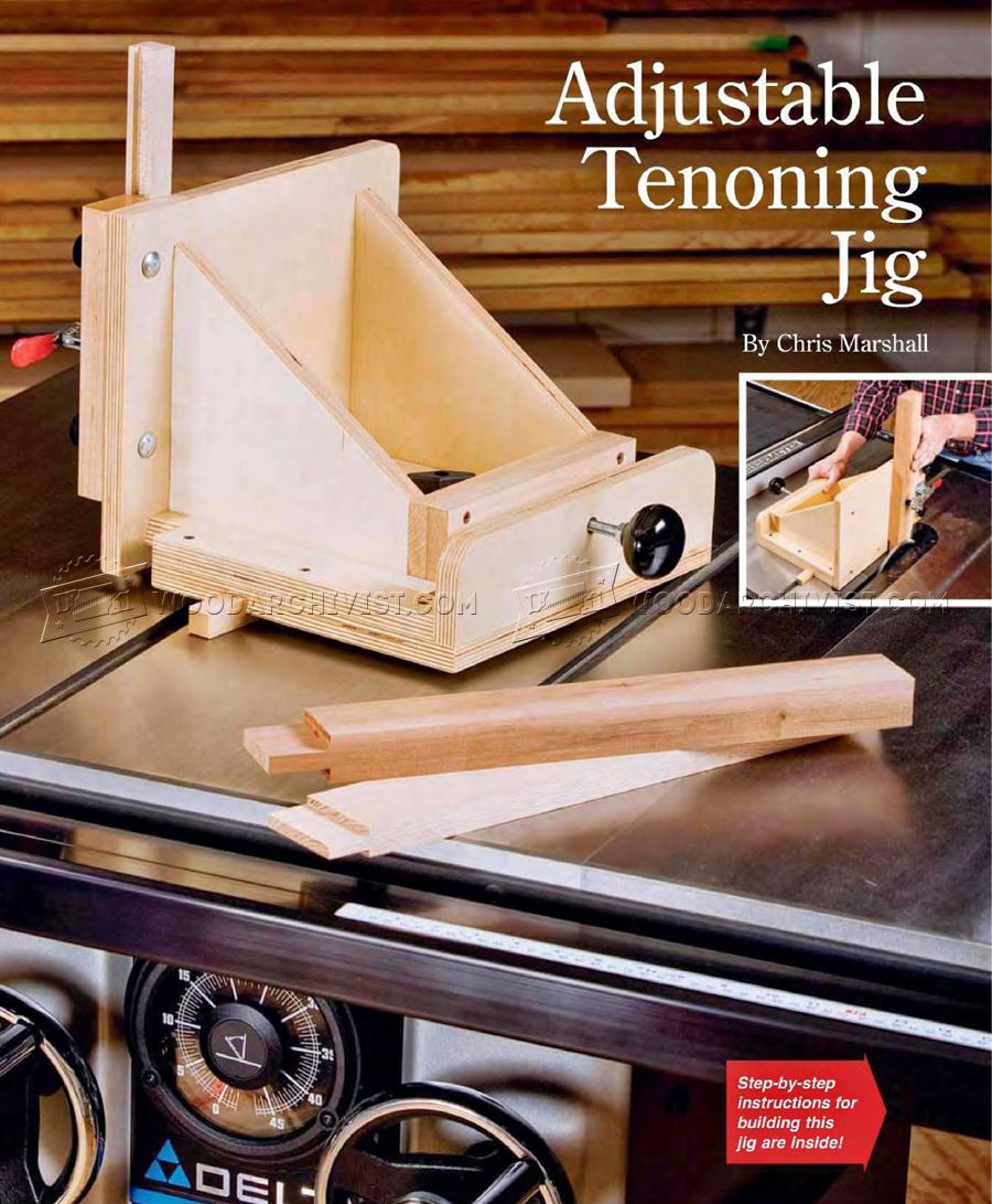 Adjustable Tenoning Jig Plans