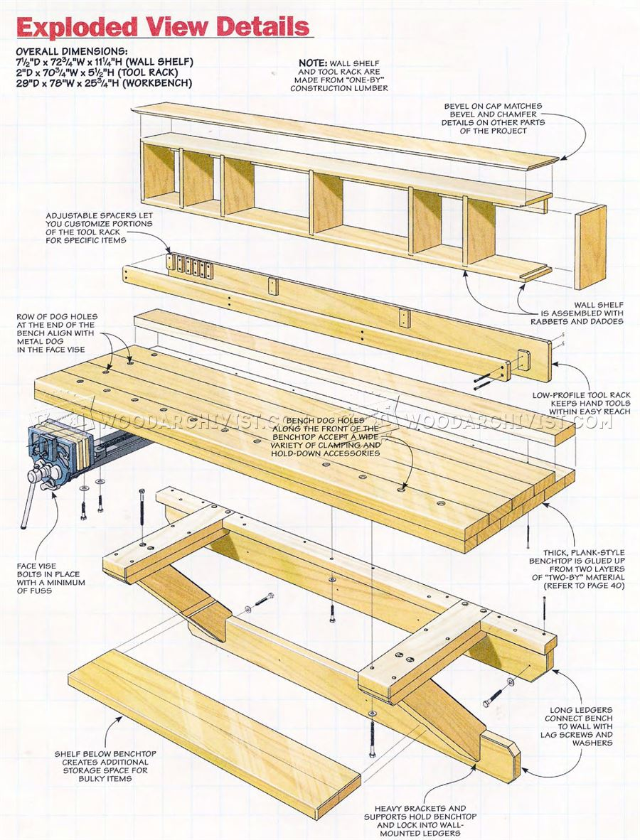Wall Mounted Workbench Plans - Workshop Solutions