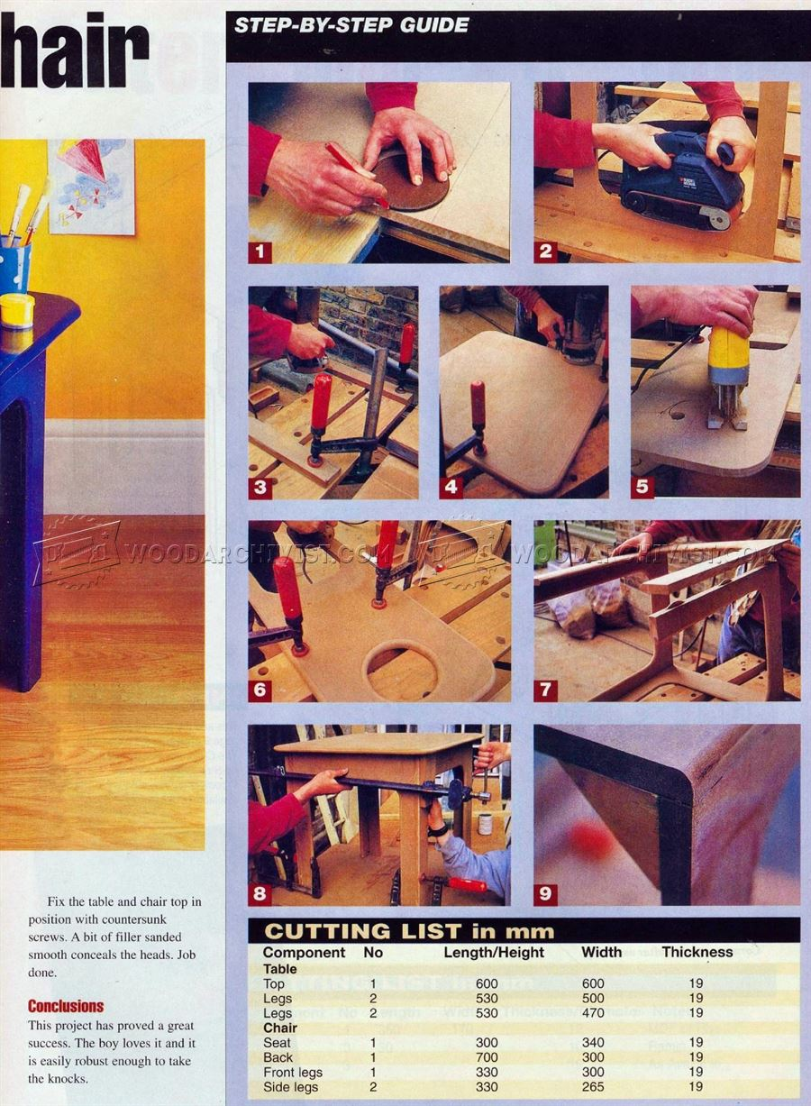 #2123 Kids Table and Chair Plans