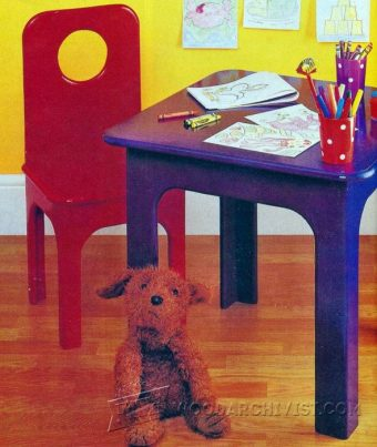 2123-Kids Table and Chair Plans