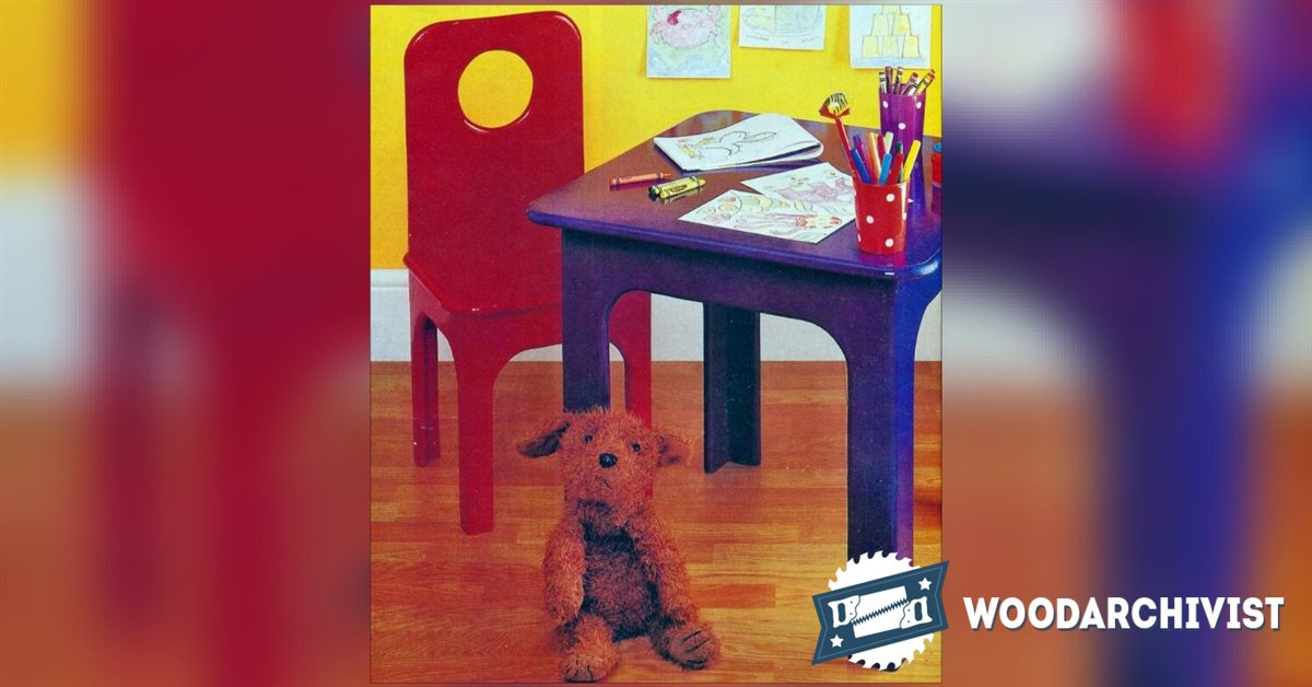 Kids Table and Chair Plans • WoodArchivist