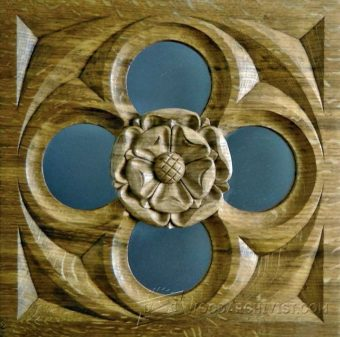 2126-Carving Tudor Rose Gothiс Mirror