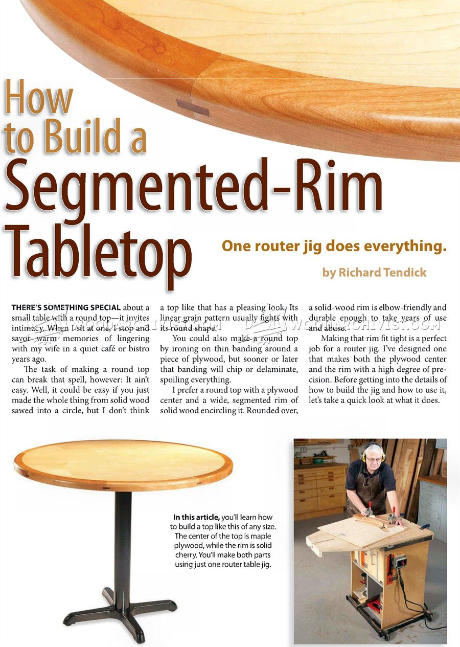 Build Round Tabletop