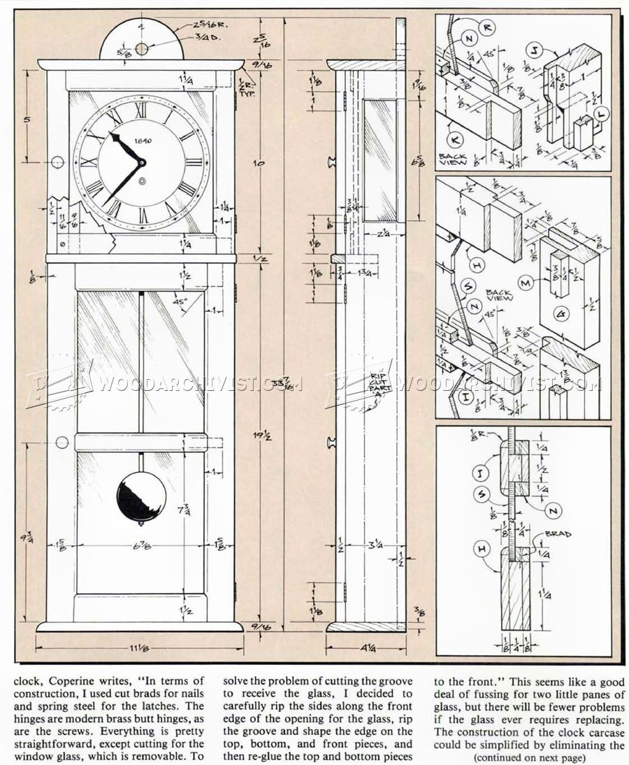 Shaker Wall Clock Plans Woodarchivist