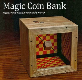 2131-Wooden Coin Bank Plans