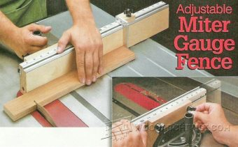 2134-Adjustable Miter Gauge Fence Plans