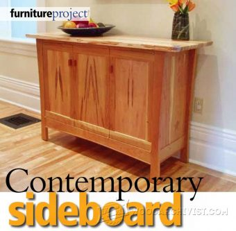 2136-Contemporary Sideboard Plans