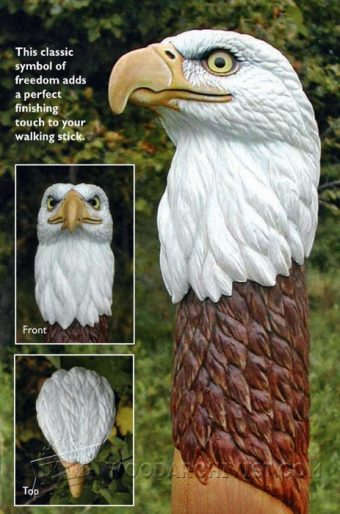 2138-Carving Eagle Bust