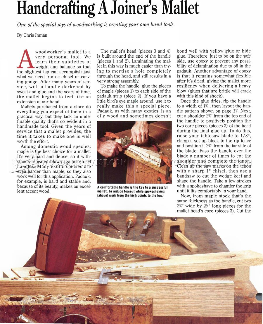 #2140 Wooden Mallet Plans