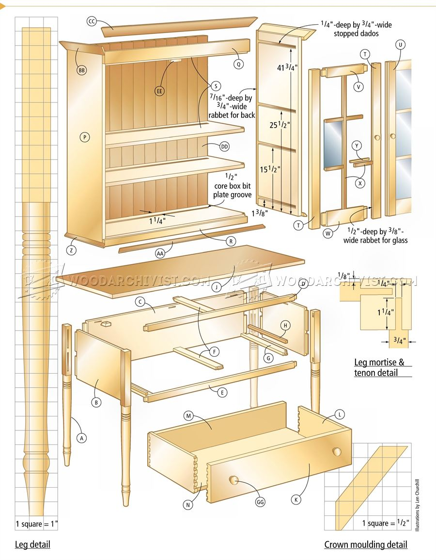 Cupboard Plans Woodarchivist