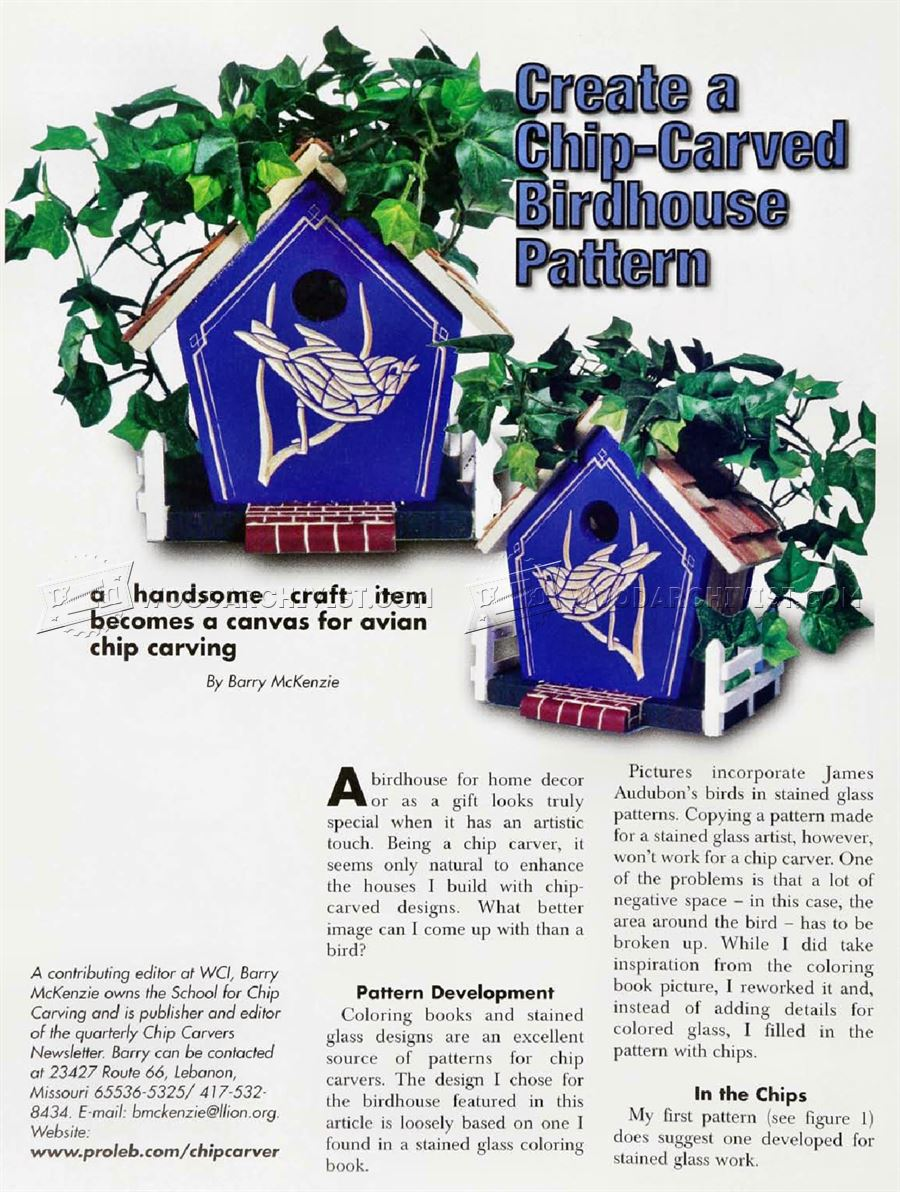 #2145 Chip Carved Birdhouse Pattern