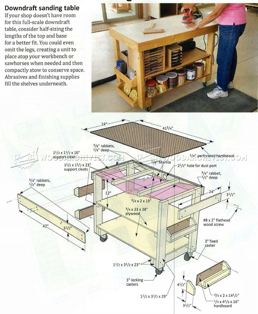 Downdraft Sanding Table Plans