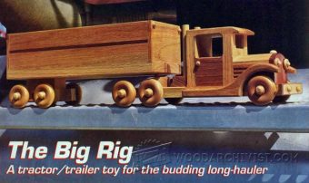 2152-Wooden Toy Truck Plans