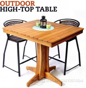 2153-Outdoor High top Table Plans