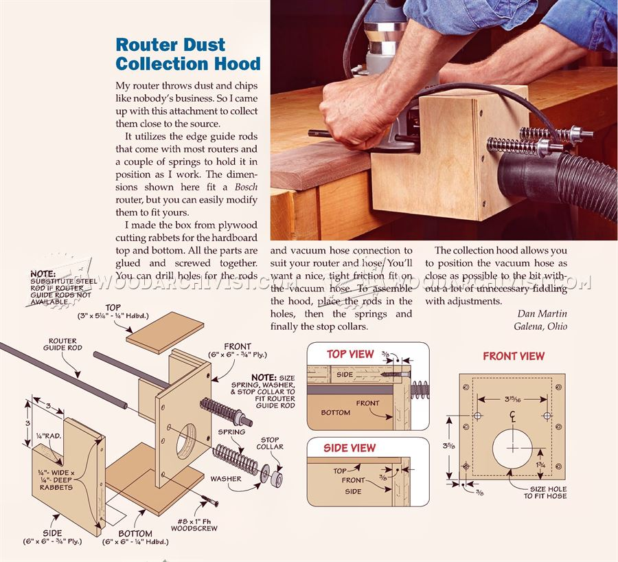 Router Dust Collection Hood