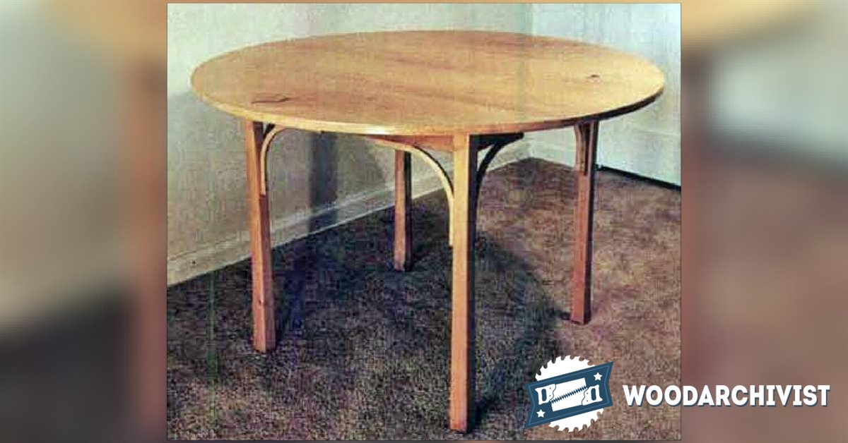 simple dining table plans woodarchivist