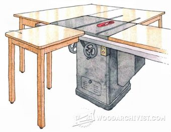 Table Saw Plan : 1614 Table Saw Infeed Table Plan • WoodArchivist