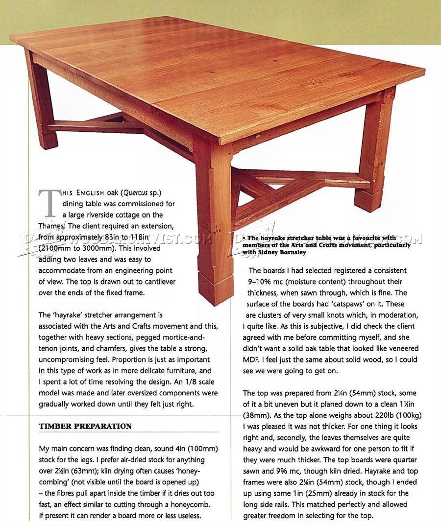 arts and crafts dining table. Arts And Crafts Dining Table Plans