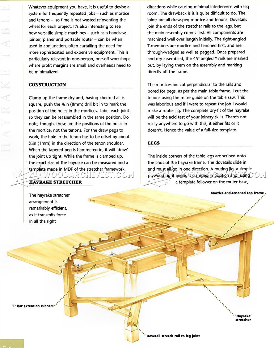 Arts And Crafts Dining Table Plans ...
