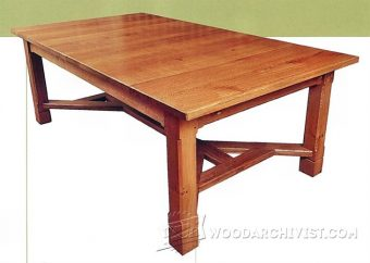 2171-Arts and Crafts Dining Table Plans