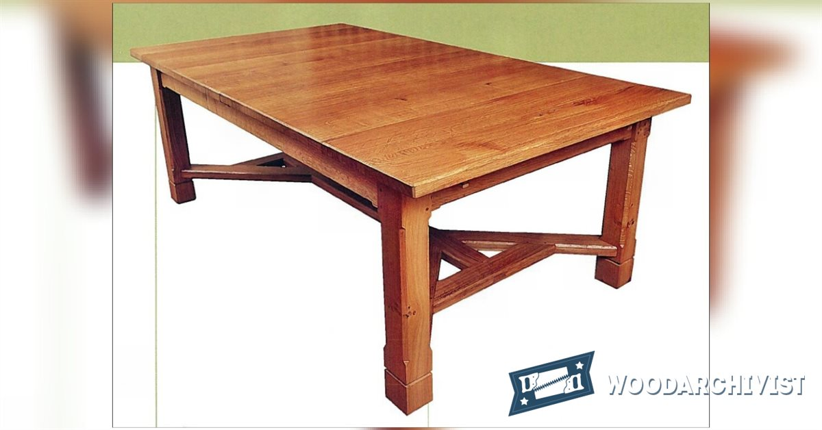 Arts and Crafts Dining Table Plans WoodArchivist