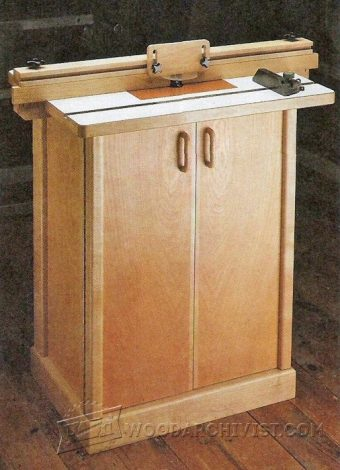 2173-Router Table Cabinet Plans