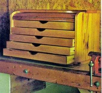 2175-Tambour Tool Chest Plans