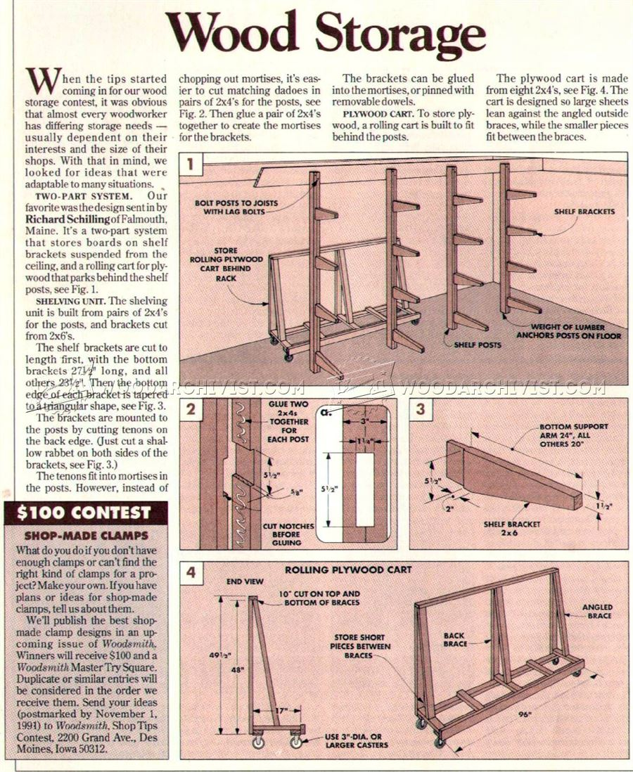 #2181 Plywood Storage Rack Plans