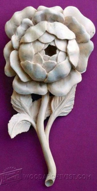 2185-Rose Carving - Wood Carving Patterns