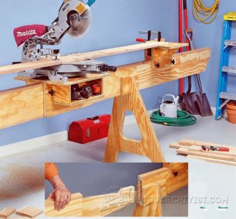 2190-Folding Miter Saw Stand Plans