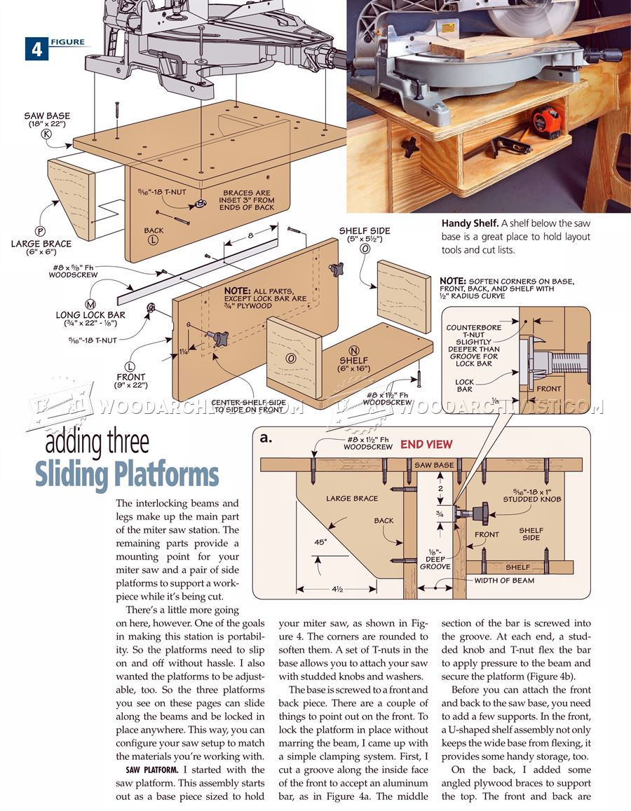 #2190 Folding Miter Saw Stand Plans