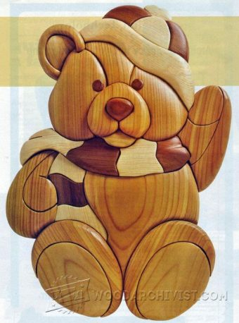 2191-Teddy - Intarsia Projects