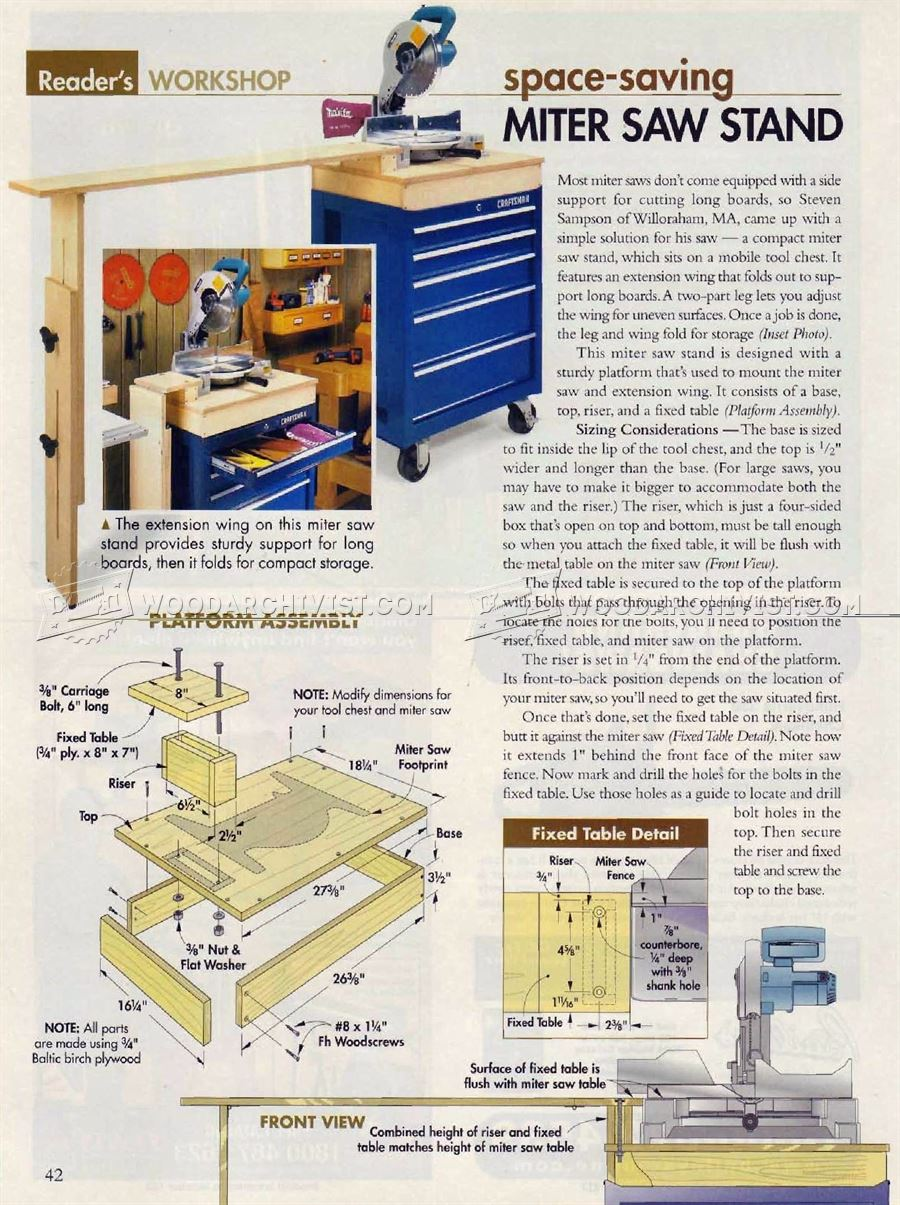 #2193 Miter Saw Stand Plans