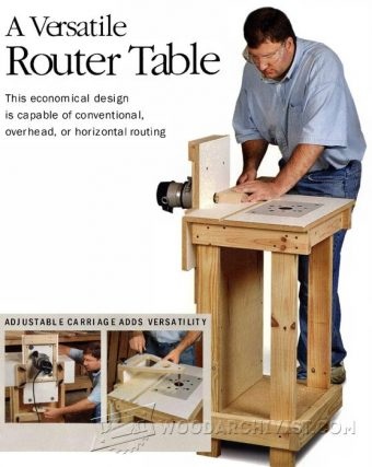 2200-Horizontal Router Table Plans