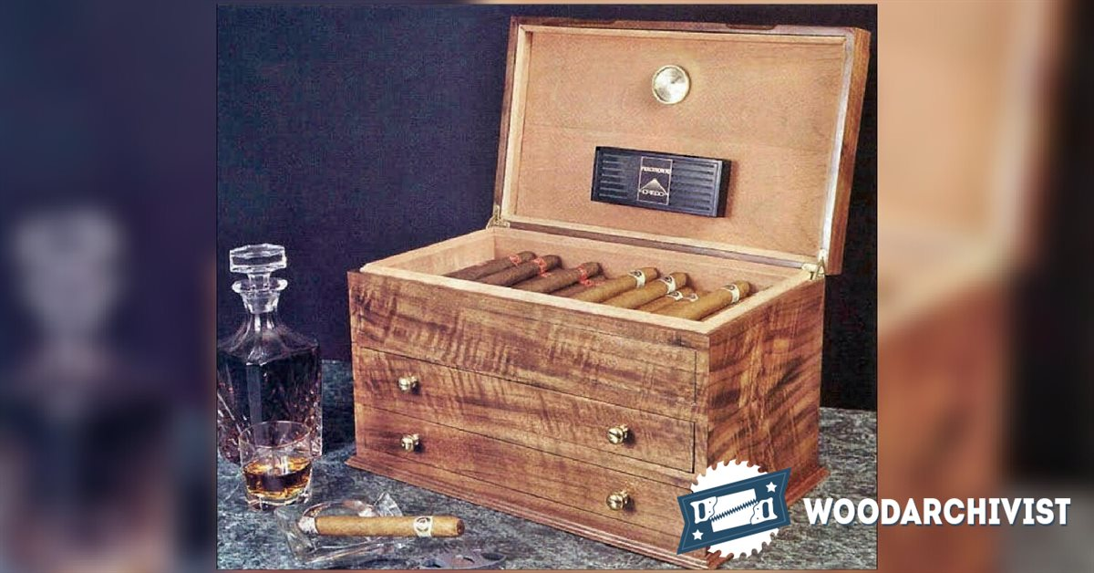 Cigar Humidor Plans Woodarchivist