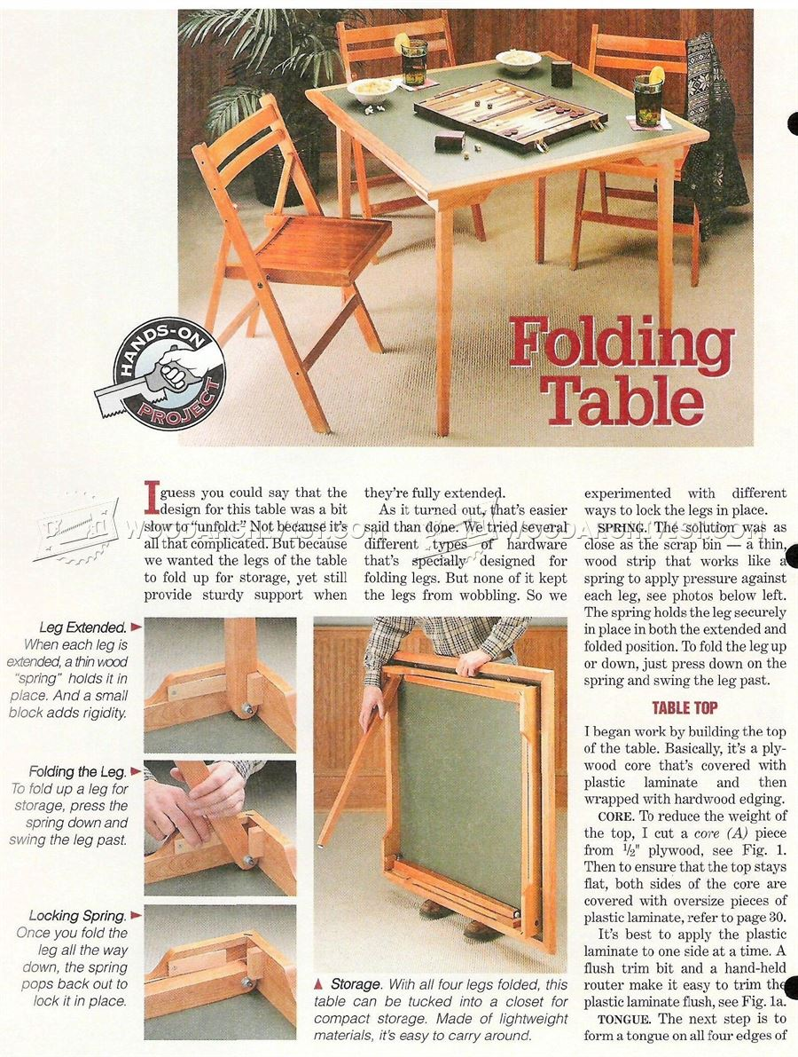 Popular How To Make Wood Folding Table PDF Woodworking