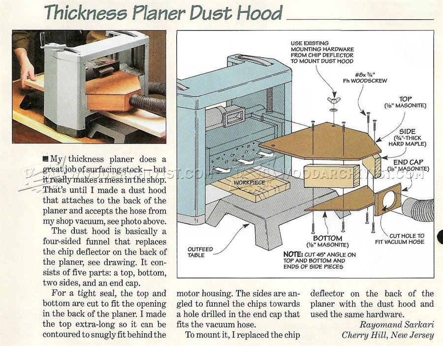 Diy Planer Dust Hood Woodarchivist