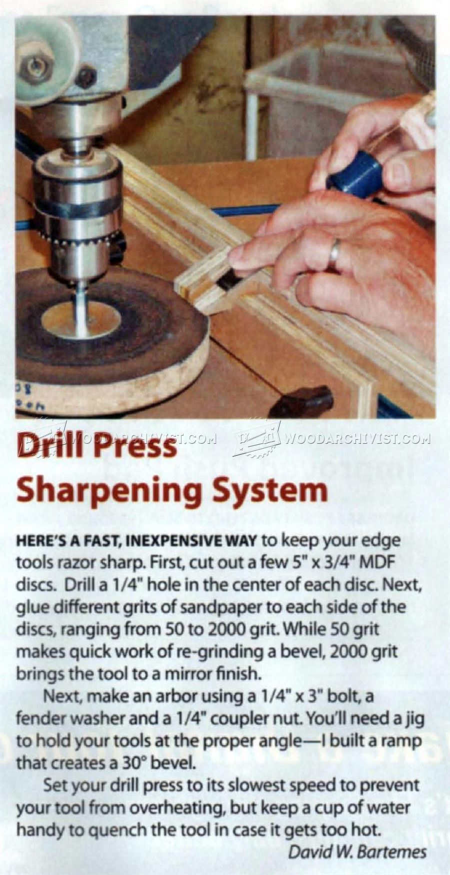 DIY Chisel Sharpening Jig