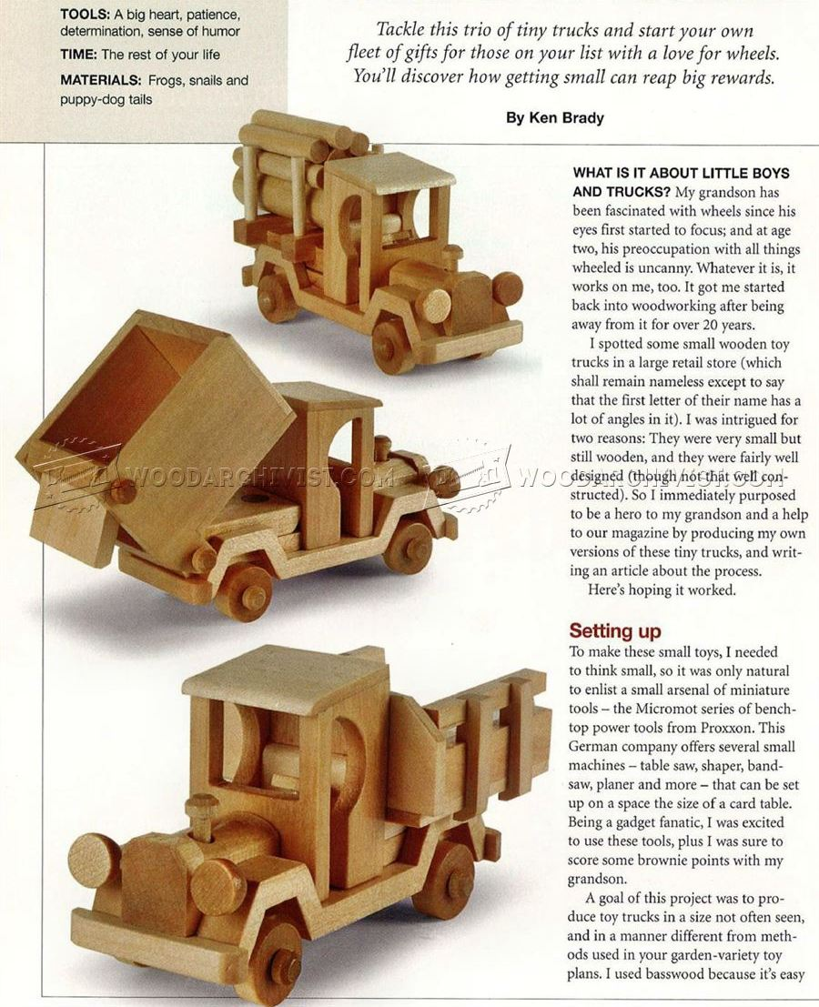 Wooden Toy Truck Plans • WoodArchivist