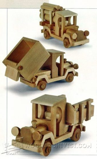 2219-Wooden Toy Truck Plans
