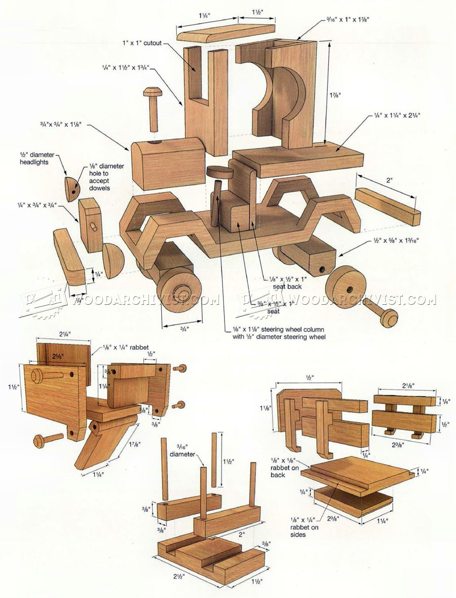 24 Awesome Woodworking Plans Toy Trucks Free | egorlin.com