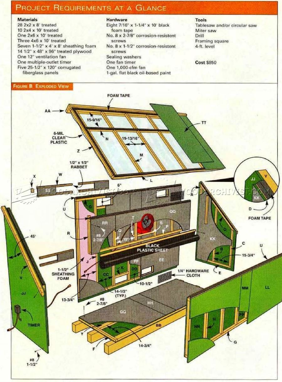 Solar Kiln Plans Woodarchivist