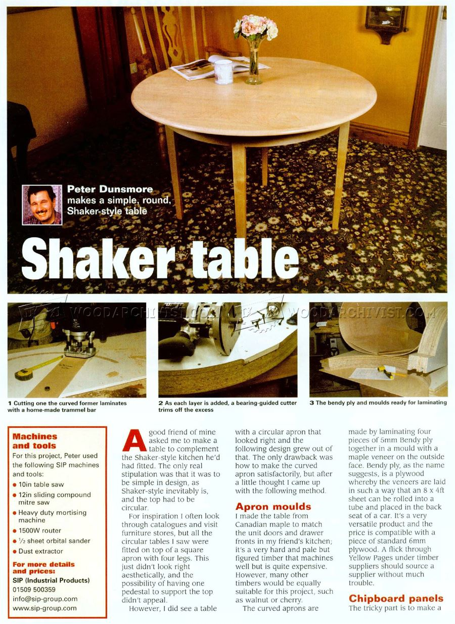Shaker Table Plans