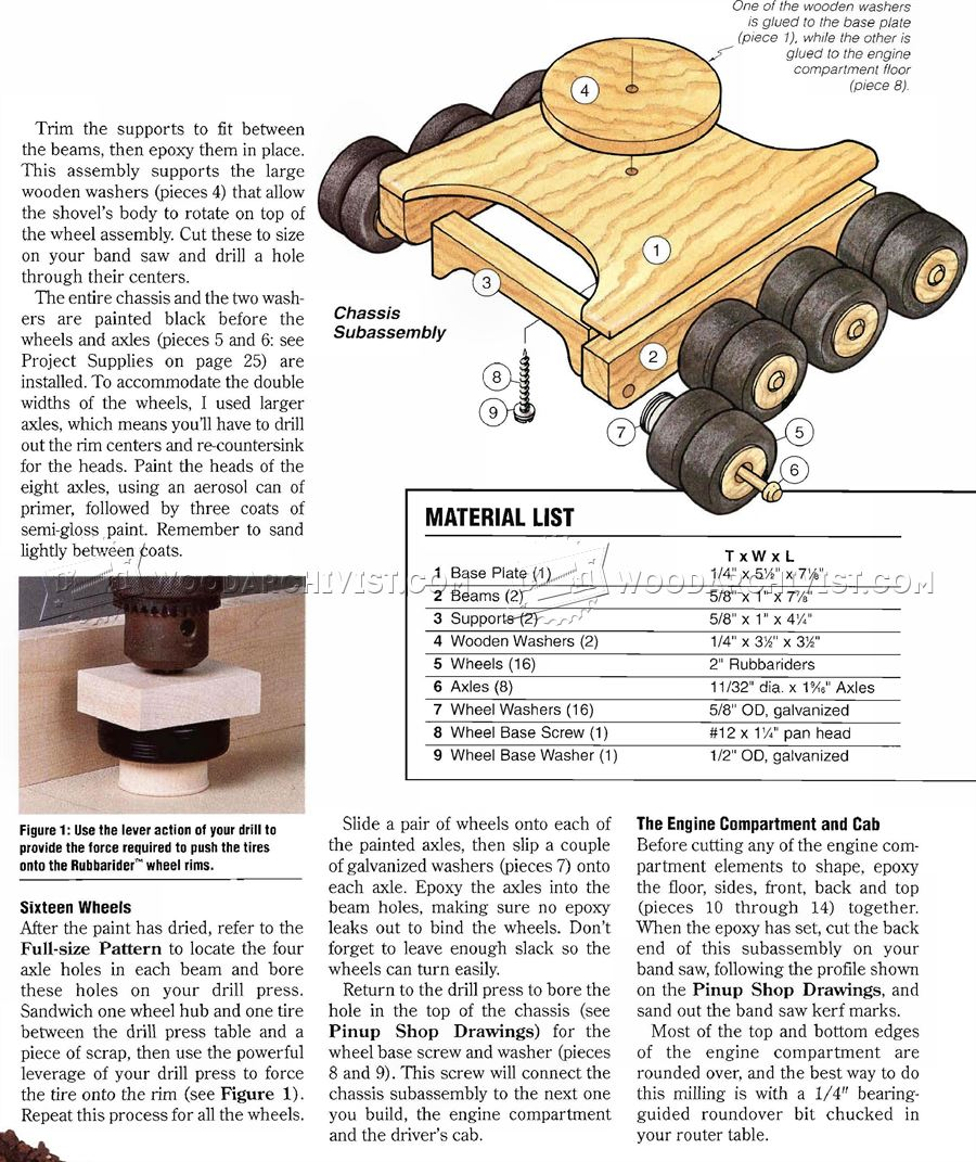 Wooden toy digger plans woodarchivist for Toy plans