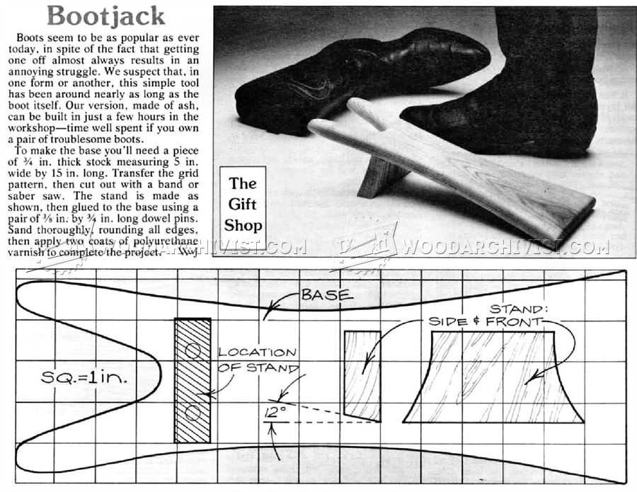 Bootjack Plans • WoodArchivist