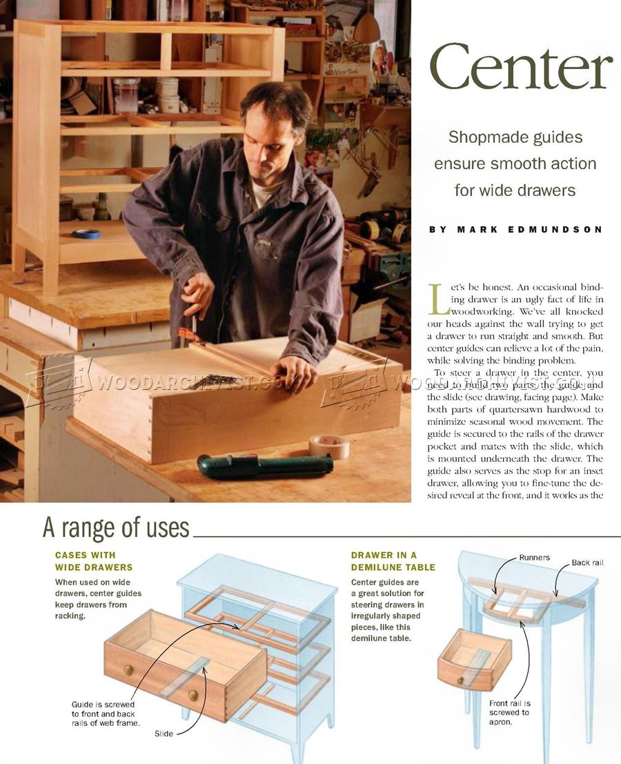 Making Drawer Center Guide